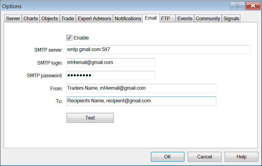 Setting up email alerts in MT4 | XGLOBAL Markets
